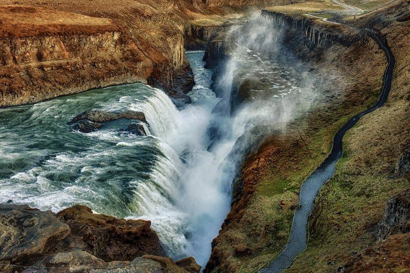 الشلالات الذهبية - Golden Falls