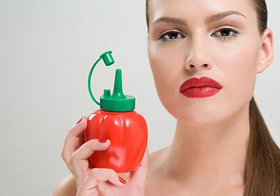 يستخدم الكاتشب في إصلاح الشعر التالف