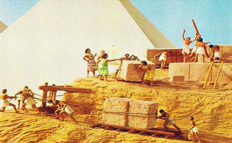 مدة بناء الاهرامات