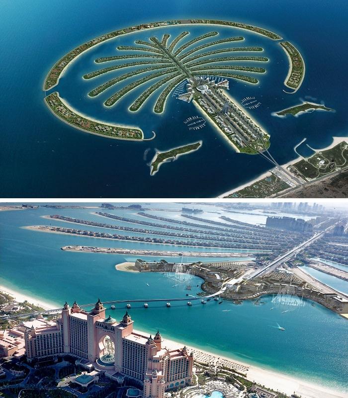 جزيرة نخلة الجميرة في دبي - 14 مليار دولار