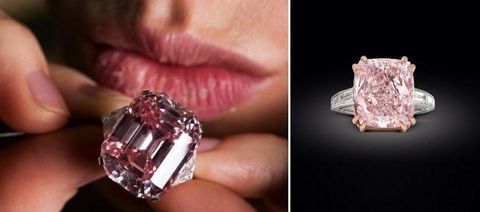 خاتم غراف الوردي من الماس The Graff Pink Diamond Ring - بـ 46.2 مليون دولار