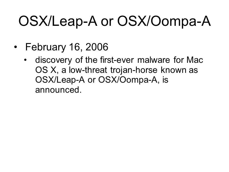 فيروس leap A/ Oompa A
