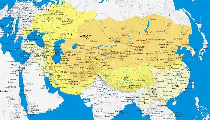 إمبراطورية المغول -  من 1206 إلى 1368 م