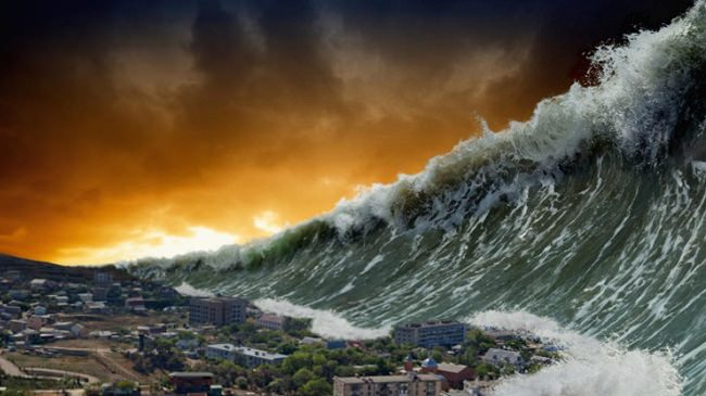 أضخم تسونامي على الإطلاق في منطقة بحر الكاريبي، التوقيت غير معروف