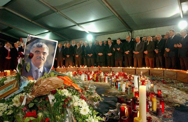 إغتيال رئيس الوزراء اللبناني الأسبق رفيق الحريري في عام 2005