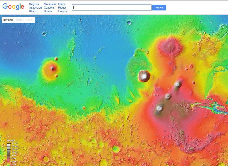 خدمة جوجل المريخ