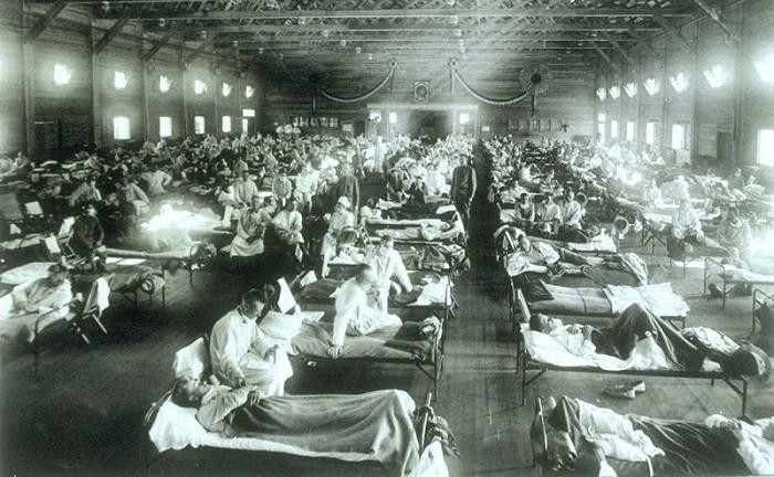 وباء الإنفلونزا بين عامي 1918 و 1919 - 100 مليون شخص وهو أسوأ الـ كوارث طبيعية في التاريخ