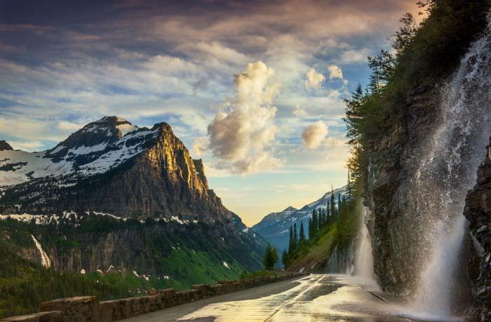 طريق الذهاب إلى الشمس - الحديقة الوطنية الجليدية، الولايات المتحدة الأمريكية
