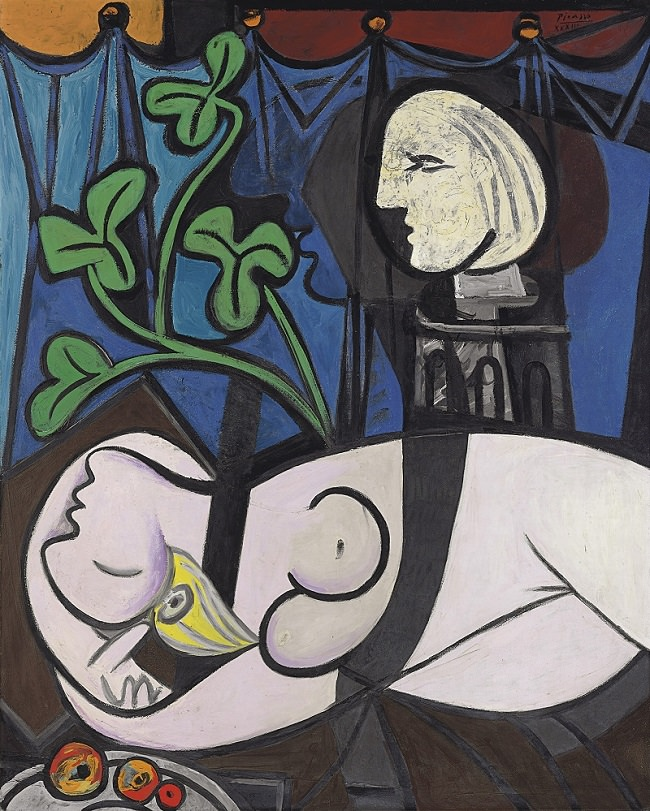 لوحة Nude, Green Leaves and Bust - ثمنها 106.5 مليون دولار