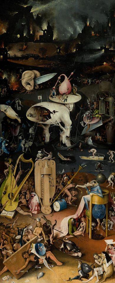 حديقة الملذات الدنوية، اكثر لوحات فنية مرعبة - هيرونيموس بوس
