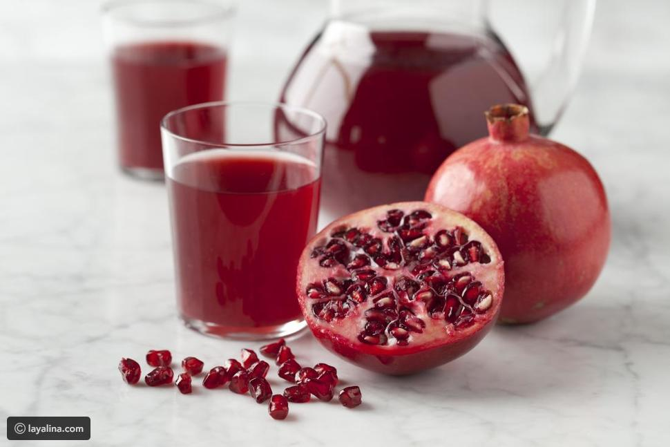 عصير الرمان يساعد في علاج الإسهال والدوسنتاريا