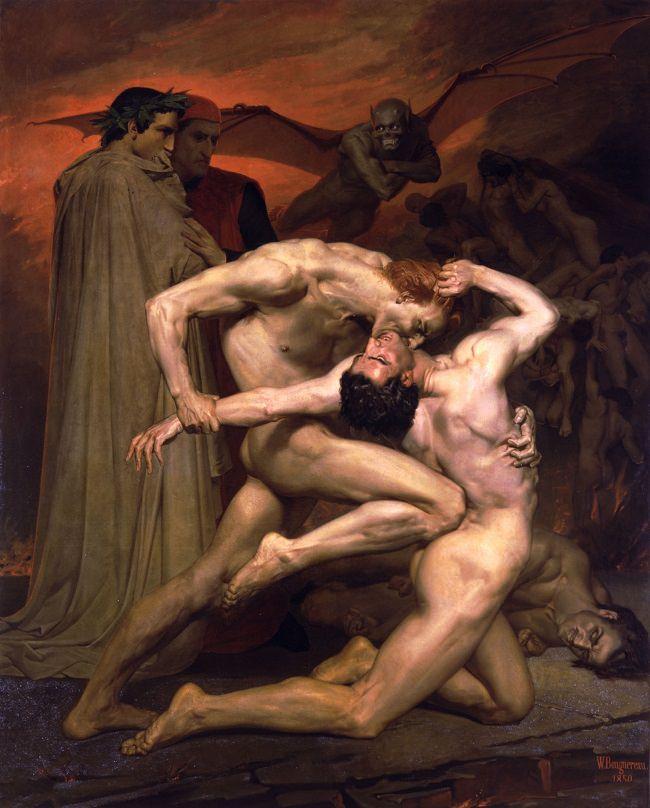 دانتي و فيرجل في الجحيم - أدولف بوغيرو