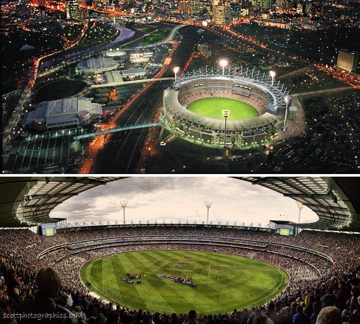 ملعب ملبورن للكريكت، أستراليا - 100 ألف متفرج