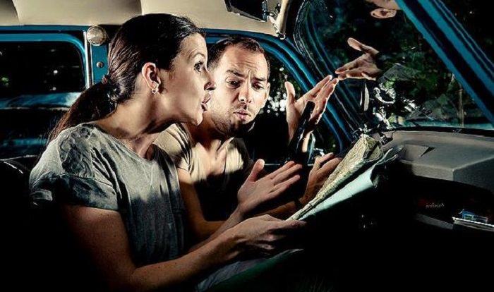 إستدلال المرأة بالخريطة أثناء القيادة