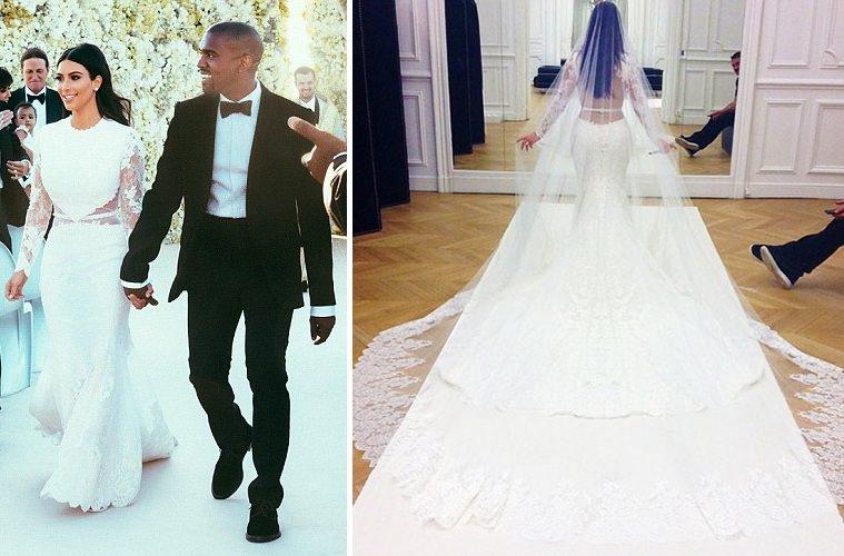فستان زفاف «كيم كاردشيان» - 500 ألف دولار
