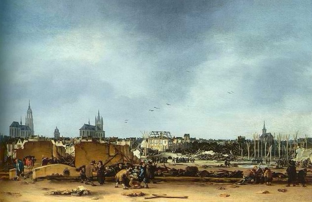 حريق ديلفت - هولندا سنة 1654