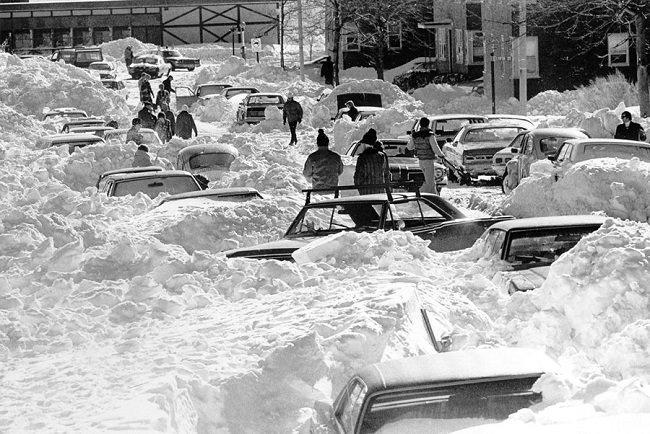 عاصفة نيو إنجلاند الثلجية سنة 1978 - الولايات المتحدة الأمريكية