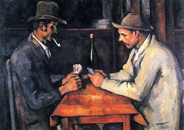اللوحة الثانية: «لاعبو الورق»