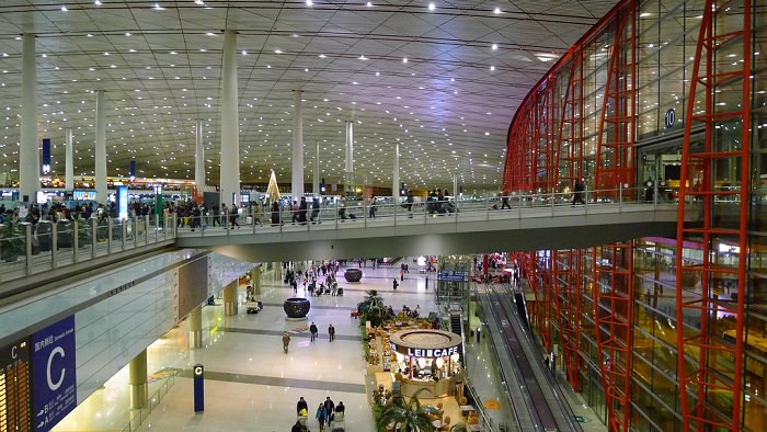 مطار بكين العاصمة في الصين
