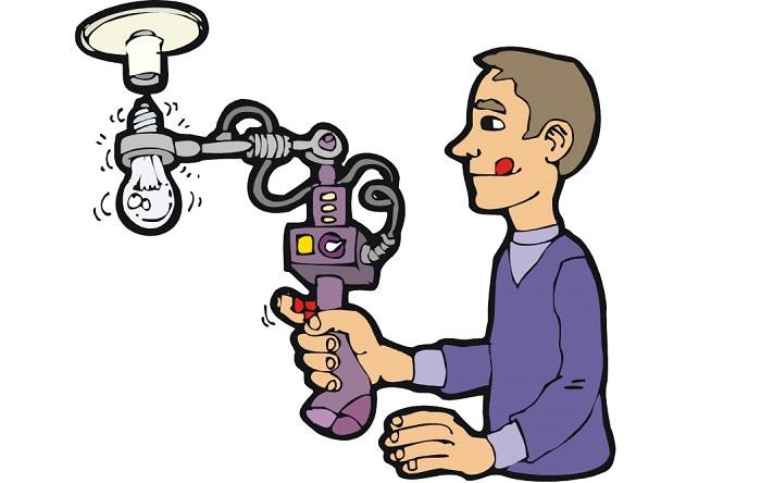 الكهربائي هو الشخص الوحيد المسموح له تبديل المصباح الكهربائي في فكتوريا