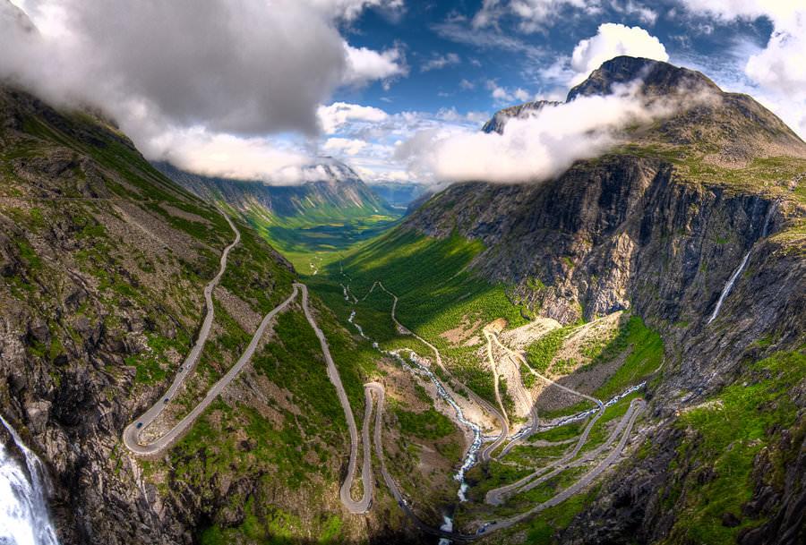 طريق ترولستيجن - النرويج