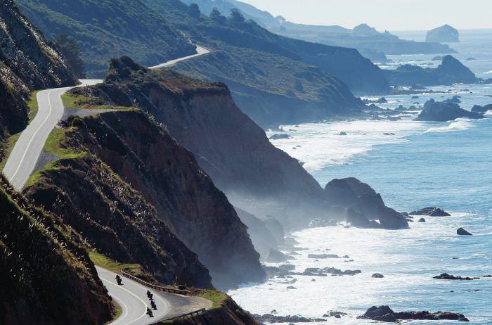 طريق ساحل المحيط الهادئ - كاليفورنيا، الولايات المتحدة الأمريكية