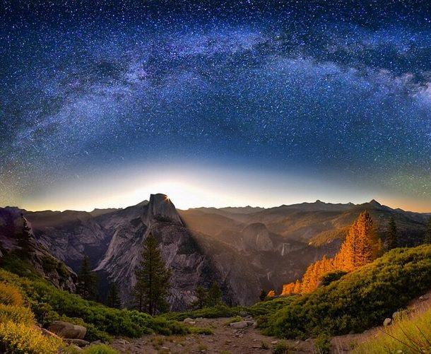 مجرة درب التبانة عند الشروق للمصور David Shield
