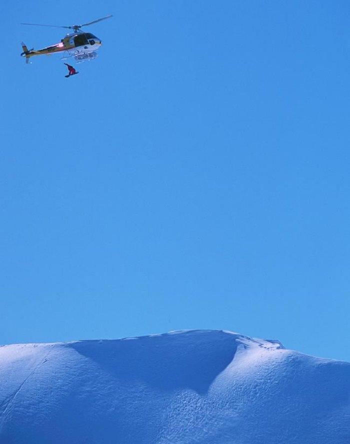 القفز من الطائرات المروحية للتزلج على الثلوج - معدل الوفيات 1 من كل 5،560