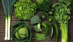 الخضراوات الورقية الخضراء