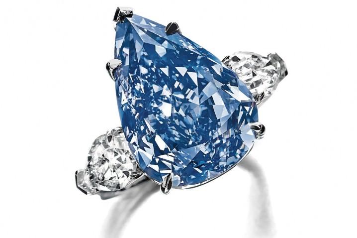 خاتم ونستون الأزرق The Winston Blue - بـ 23.8 مليون دولار
