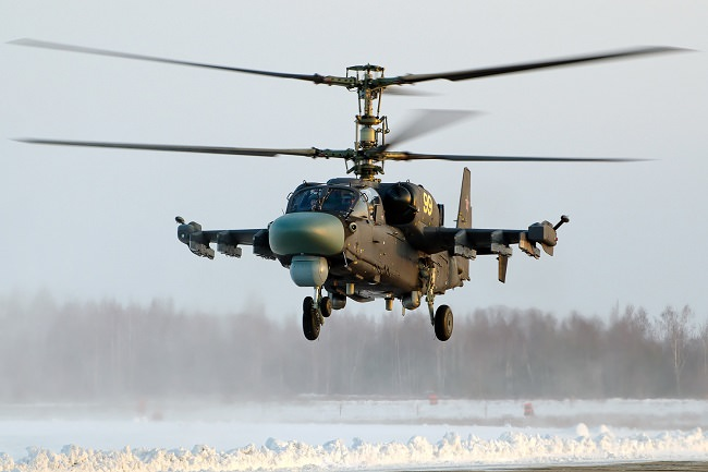 مروحية كاموف كا-52 - 315 كيلومتر/الساعة