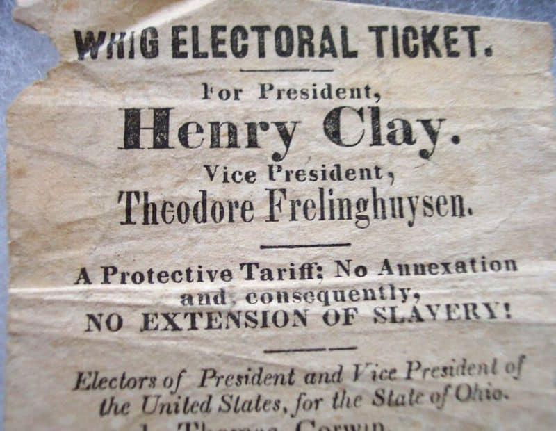 حزب اليمين الأمريكي - 1833-1860
