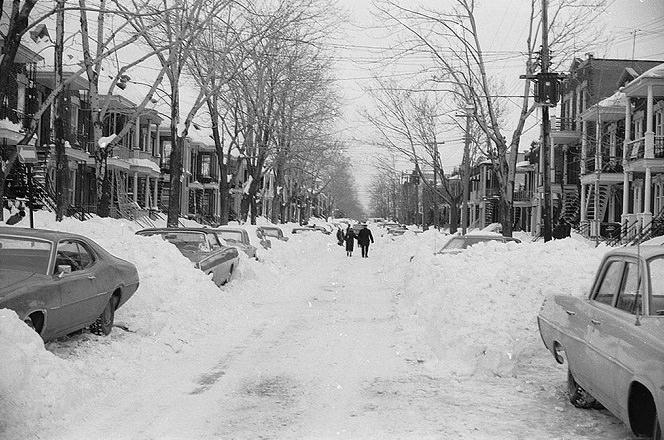 عاصفة شرقي كندا الثلجية سنة 1971 - مقاطعات كيبيك وأونتاريو