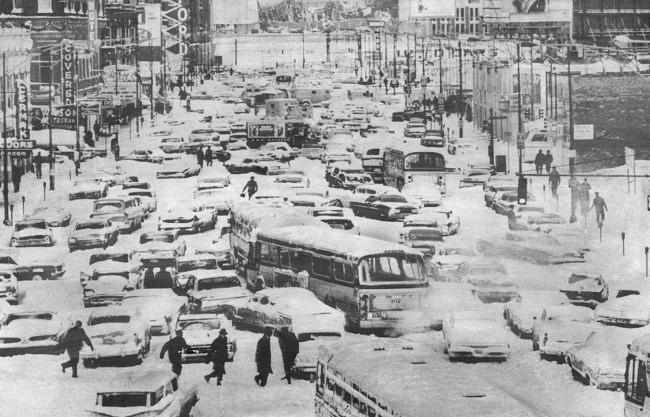 عاصفة شيكاغو سنة 1967 - الولايات المتحدة