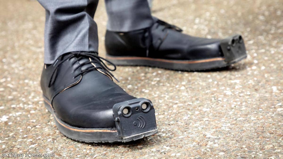 حذاء خاص بالمكفوفين