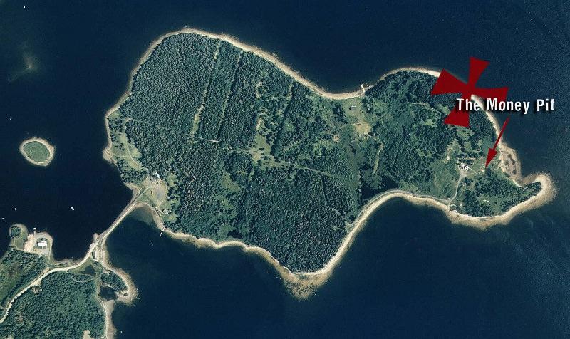 حفرة الأموال في جزيرة البلوط - كندا