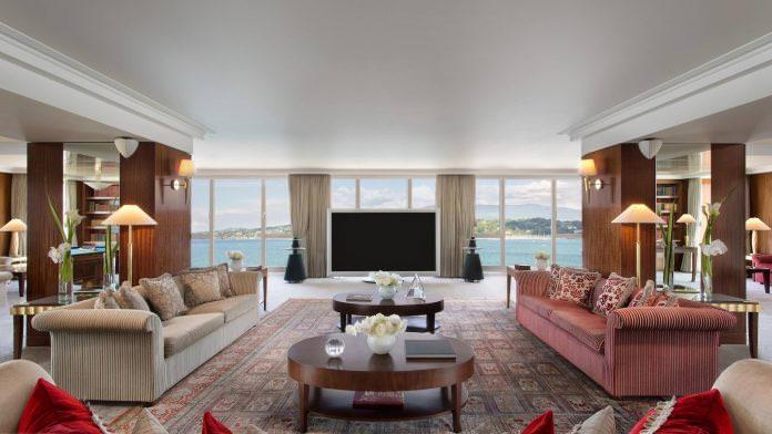 جناح بنتهاوس الملكي - فندق بريزيدنت ويلسون، جنيف، سويسرا